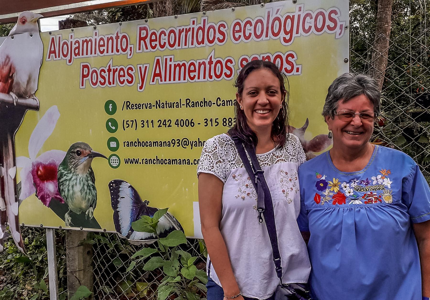 Natalia och Marta Camana lodge