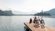 Helia Cycling at Lake Bled Slovenia