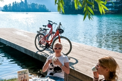 Helia Cycling at Lake Bled Slovenia