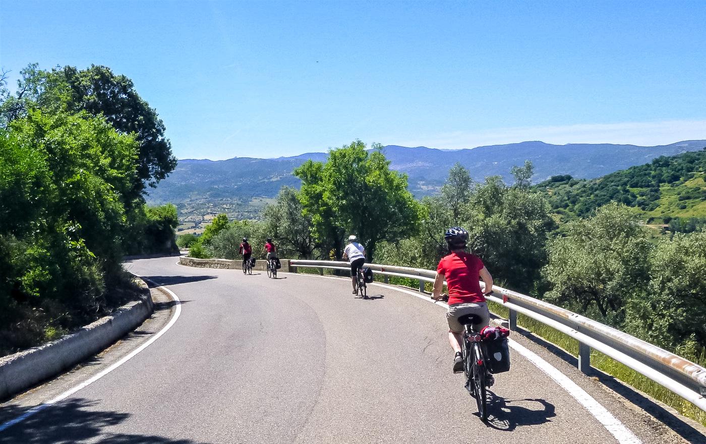 Cyklister i Sardinien
